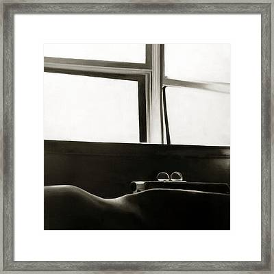 Writer's Repose Framed Print by Anni Adkins