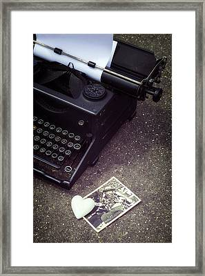 Writing A Love Letter Framed Print by Joana Kruse