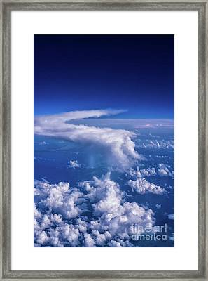 Writing In The Sky Framed Print