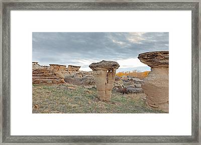 Framed Print featuring the photograph Writing On Stone Park by Fran Riley