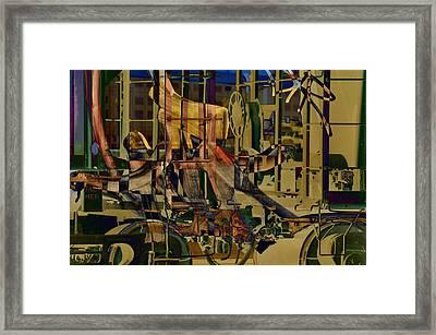 Writing On The Rails 0 Framed Print by John Ricker