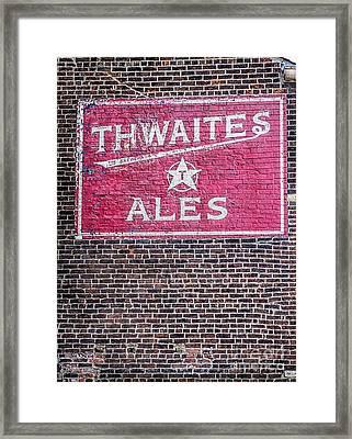 Writing On The Wall Framed Print by Gillian Singleton