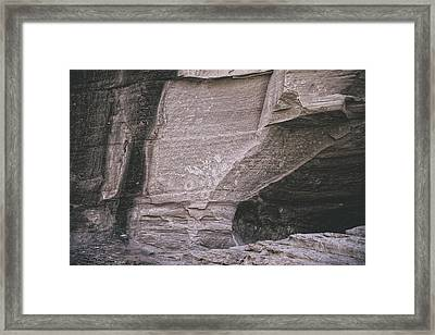 Writing On The Wall  Framed Print by Lucinda Walter