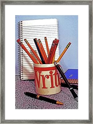 Writing Still Life 1 Framed Print by Steve Ohlsen