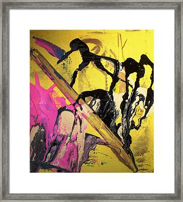 Written History Began When Monkeys Invented A Giagantic Pencil Framed Print by Bruce Combs - REACH BEYOND