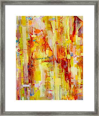 Written In Particles And Waves Framed Print by Regina Valluzzi