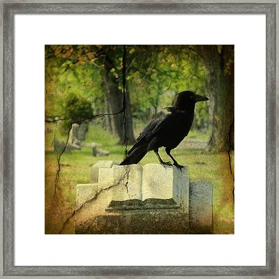 Written In Stone Framed Print by Gothicrow Images