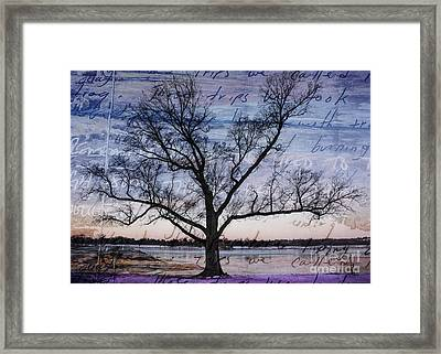 Written On The Wind Framed Print