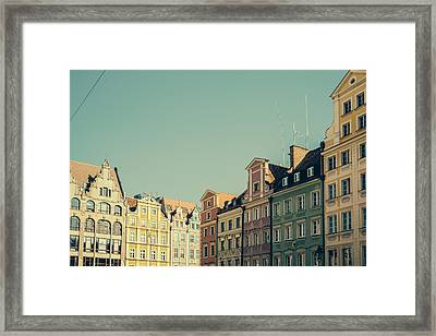 Wroclaw Architecture Framed Print