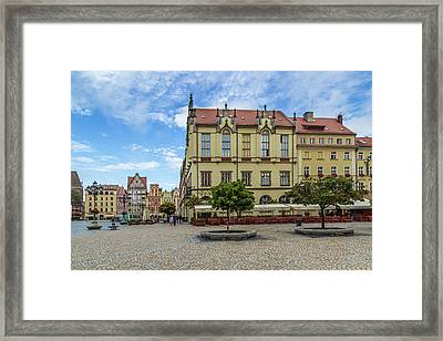 Wroclaw Market Square, New Town Hall And Tenement Houses Framed Print