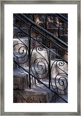 Wrought Iron Bannister  Framed Print by Robert Ullmann