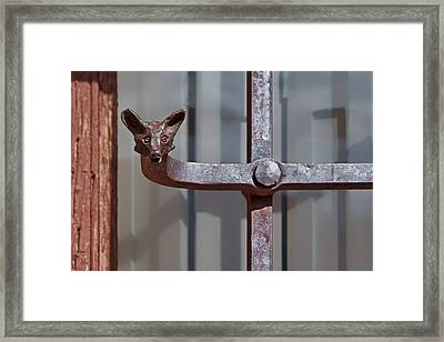 Wrought Iron Fox Framed Print by Nikolyn McDonald