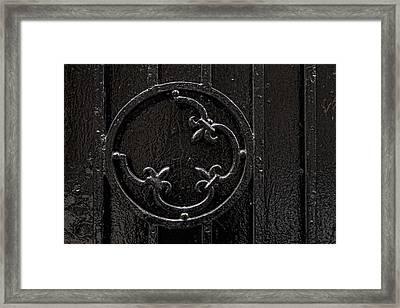 Wrought Iron Design Framed Print by Robert Ullmann