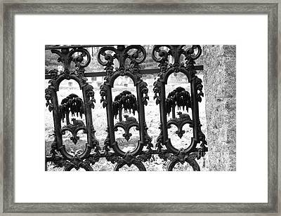 Wrought Iron Gate -west Epping Nh Usa Framed Print by Erin Paul Donovan
