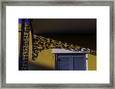 Wrought Iron Shadows Framed Print by Garry Gay