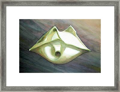 Ws1979ny010 Space Ship Framed Print by Alfredo Da Silva