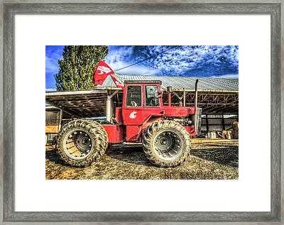 Wsu Tractor Framed Print