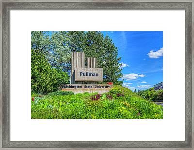 Wsu Welcome To Pullman Framed Print