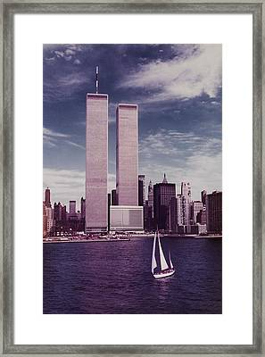 wtc Remembered Framed Print by Laura Fasulo