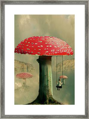Wundershroom Framed Print by Nathan Wright