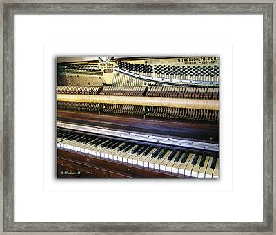 Wurlitzer Piano Framed Print by Brian Wallace