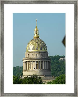 Wv State Capital Building  Framed Print