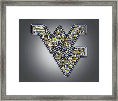 West Virginia University Football Framed Print by Fairchild Art Studio