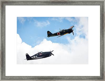 Ww II Dogfight Framed Print by Brian Knott Photography