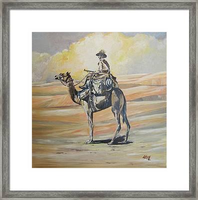 Ww1 Light Horse Cameleer Framed Print by Leonie Bell