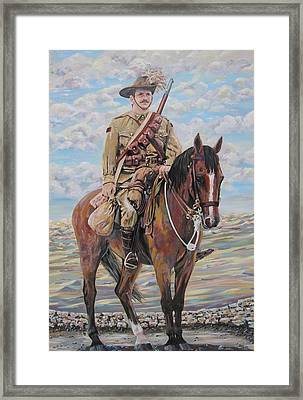 Ww1 Lighthorse At Beersheba Framed Print by Leonie Bell