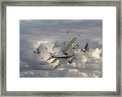 Ww1 - 'wings' Framed Print by Pat Speirs