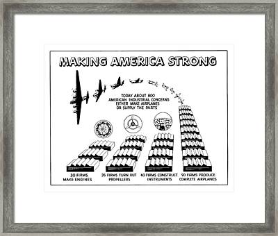 Ww2 Airplane Supply Cartoon  Framed Print by War Is Hell Store