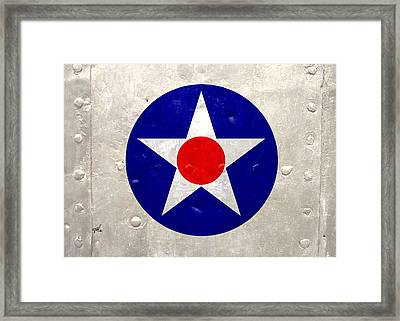 Ww2 Army Air Corp Insignia Framed Print by John Wills