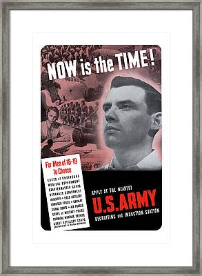 Ww2 Army Recruiting Poster Framed Print