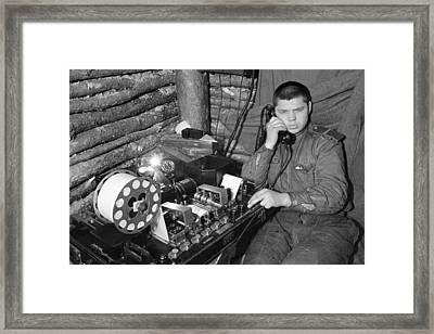 Ww2 Artillery Detection Equipment, 1944 Framed Print