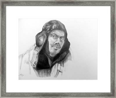 Ww2 Aviator Framed Print by Susan Tilley