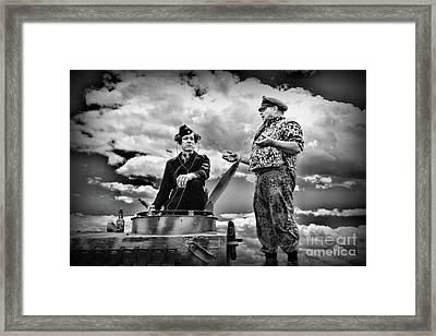 Ww2 German Tank Commander Framed Print