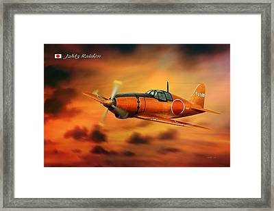 Ww2 Imperial Japanese Fighter J2m3 Raiden Framed Print by John Wills
