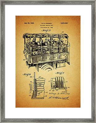 Ww2 Military Transport Vehicle Framed Print by Dan Sproul