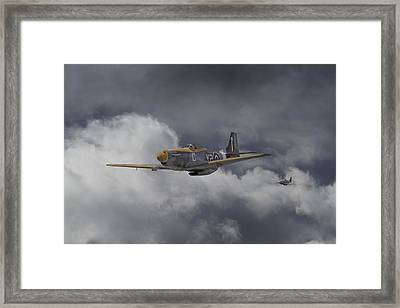 Ww2 - P-51 - I Think We-re Lost Framed Print by Pat Speirs