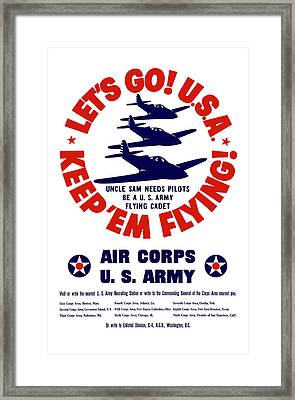 Us Army Air Corps - Ww2 Framed Print by War Is Hell Store