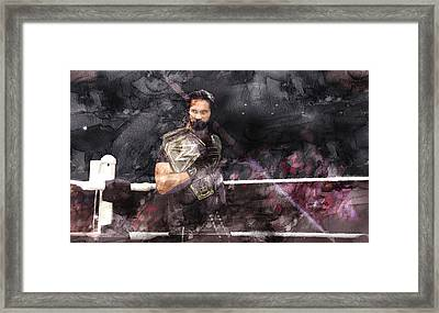 Wwe Wrestling 107 Framed Print
