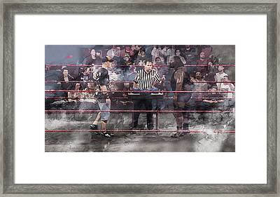 Wwe Wrestling 1105 Framed Print