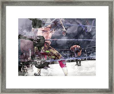 Wwe Wrestling 111 Framed Print