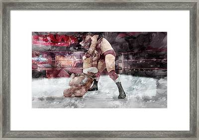 Wwe Wrestling 20 Framed Print
