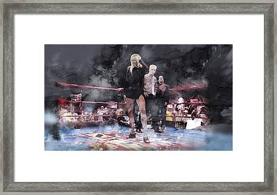 Wwe Wrestling 21 Framed Print