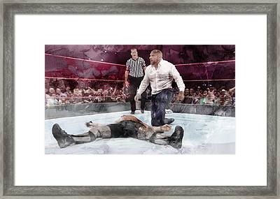 Wwe Wrestling 22 Framed Print