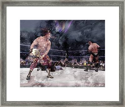 Wwe Wrestling 301 Framed Print