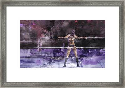 Wwe Wrestling 334 Framed Print