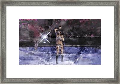 Wwe Wrestling 340 Framed Print